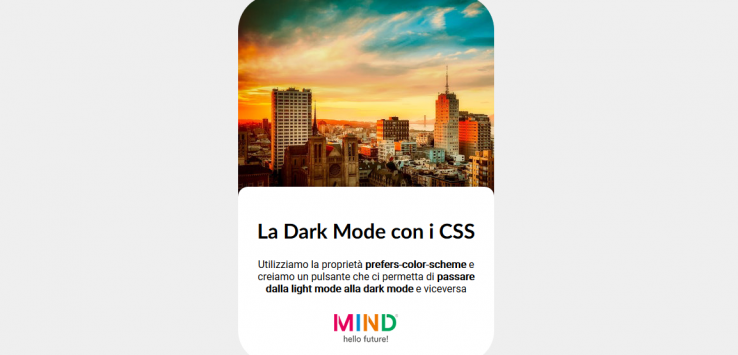 Implementare la Dark Mode con i CSS